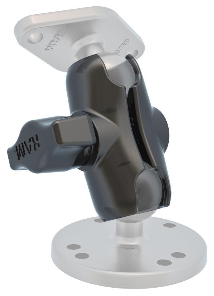 Ram double socket clamp arm short mount