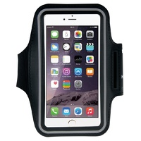 HAWEEL Sport Armband Case with Earphone Hole & Key Pocket for Large Phones - Black