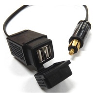 Motorcycle Power BMW Hella Din Dual USB Adapter Charger