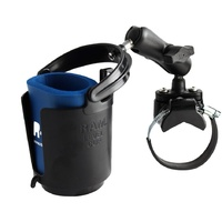 RAM Drink Cup Holder with ATV Roll Bar Rail Base