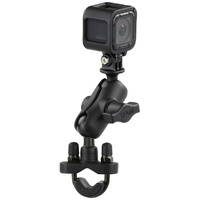 RAM U-Bolt Mount Motorcycle Handlebar Rail for GoPro Camera