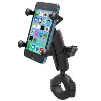 "RAM 1 1/8-1 1/2"" (28.5 - 38mm) Rail Handlebar Motorcycle Mount X-Grip iPhone 6 7 8 X RAM-B-408-112-15-UN7U"