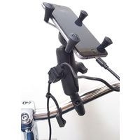 Motorcycle USB Power Handlebar Mount iPhone 6 Plus X-Grip