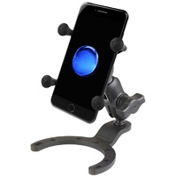 RAM Large Gas Tank Mount with Short arm and Small X-Grip - iPhone 6, 7, 8, X - RAM-B-411-A-UN7BU