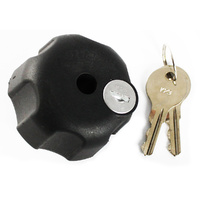 """RAM Mount Locking Security Knob with 5/16-18"""" Brass Hole for 1.5"""" C Sized Balls """