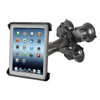 "RAM Triple Suction Cup Glass Mount 10"" Tablets"