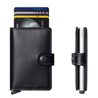 Secrid MiniWallet Black Leather Wallet RFID Credit Card Protector