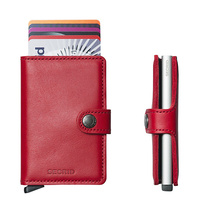 Secrid MiniWallet RED Leather Wallet RFID Credit card Protector