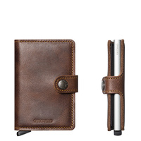 Secrid MiniWallet Vintage Brown Leather Wallet RFID Credit card Protector