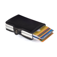 Secrid TwinWallet Leather RFID Security Credit CardProtector Black