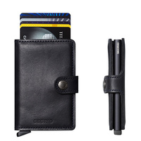 Secrid MiniWallet Vintage Black Leather Wallet RFID Credit CardProtector