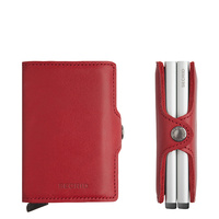 Secrid TwinWallet Leather RFID security Credit cardProtector Red