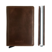 Secrid SLIM Wallet Vintage Brown SC3829 Leather RFID Credit Card Protector