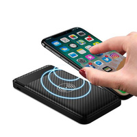Portable Lightweight Wireless Power Bank Qi Charger iPhone 8, X, 8 Plus, Samsung - Black
